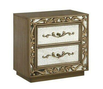 Acme Orianne Nightstand in Antique Gold Finish 23793