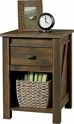 Ameriwood Home  Farmington Night Stand, Small, Century Barn