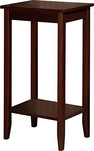 DHP Rosewood Tall Table, Simple Small Space Table, Coffee Brown