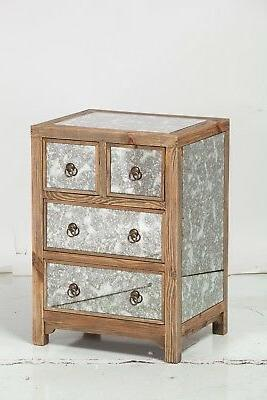 "Dixon 4 Drawer Night Stand 27.5"" Handmade Midcentury Industr"