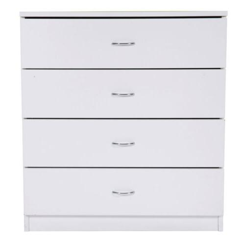Home Bedroom 4 Night Stand Organizer Furniture White
