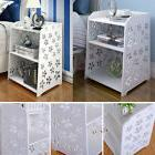 S Modern White Flower Bedroom Bedside Table Rack Cabinet Org