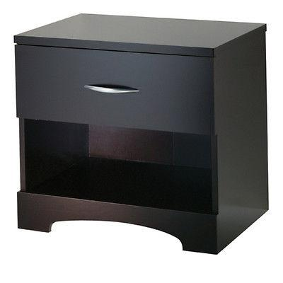 """South Shore Night Stand Contemporary Chocolate 24"""" x 17"""" x 2"""