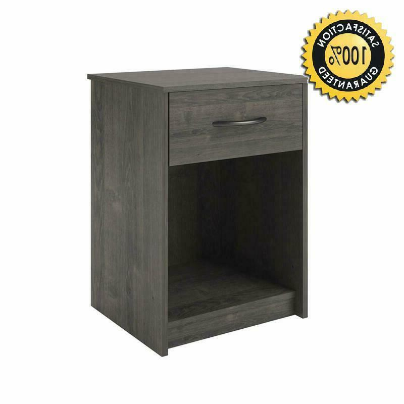 ameriwood home core night stand dark gray