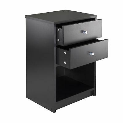 Ava 2 Drawers in Black Finish