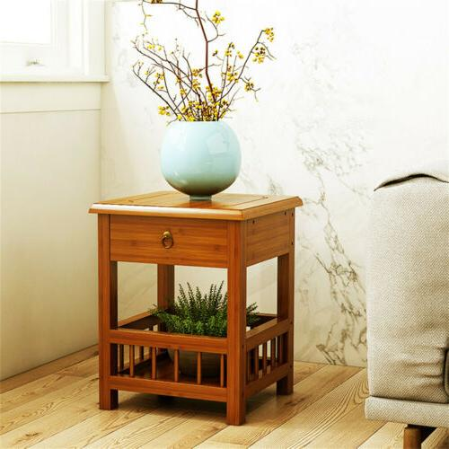 Bamboo Side with Stand Plant Rack