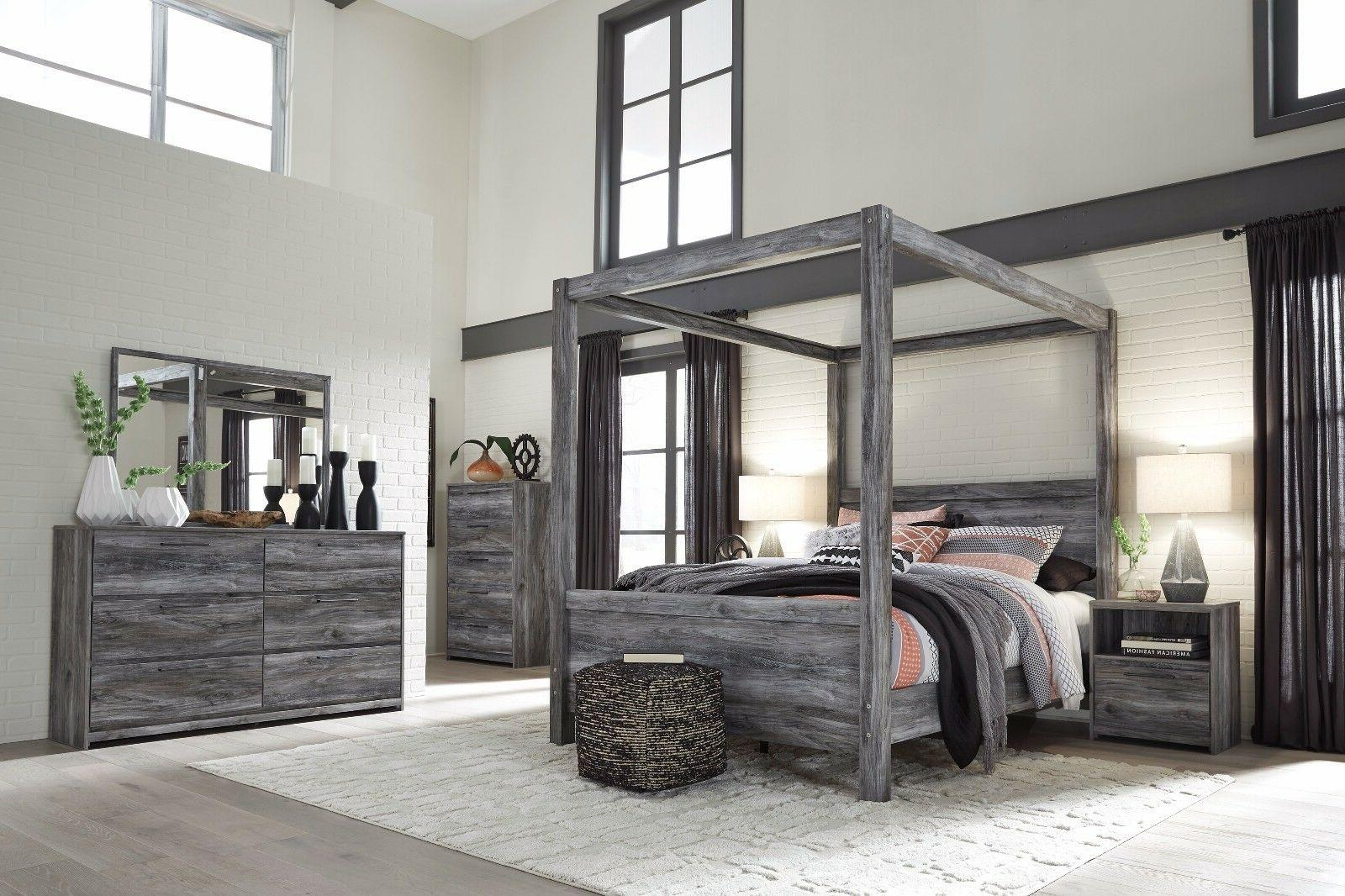baystorm queen canopy 6 piece bedroom set