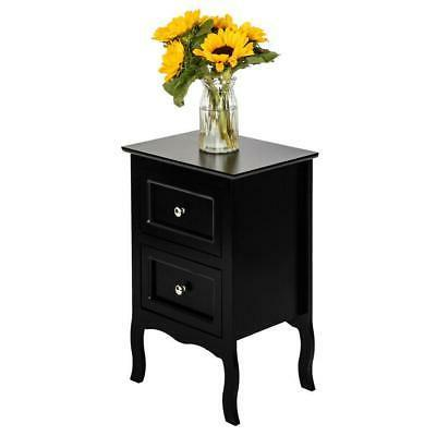 Bedroom Night Stand Table Furniture Side Storage Wood