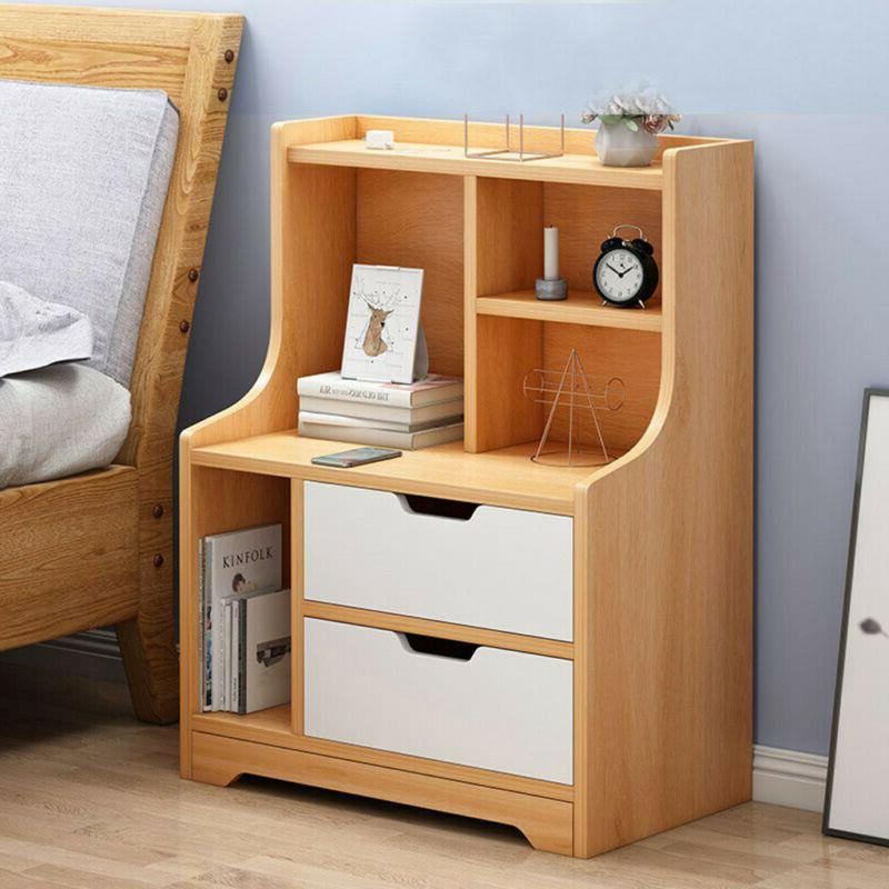 End Stand Table Furniture Storage w/Drawer Side