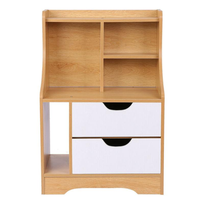 End Table Night Stand Storage w/Drawer