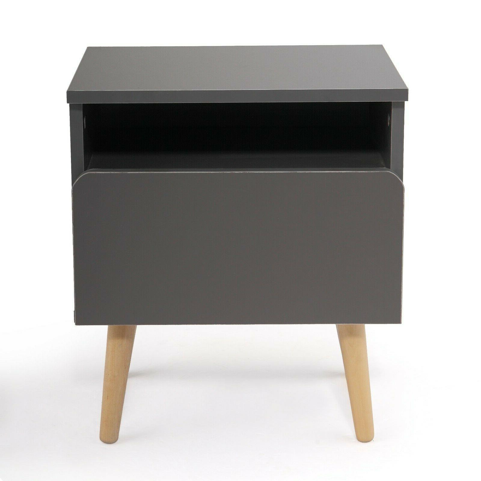 Side Stand Drawer Gray