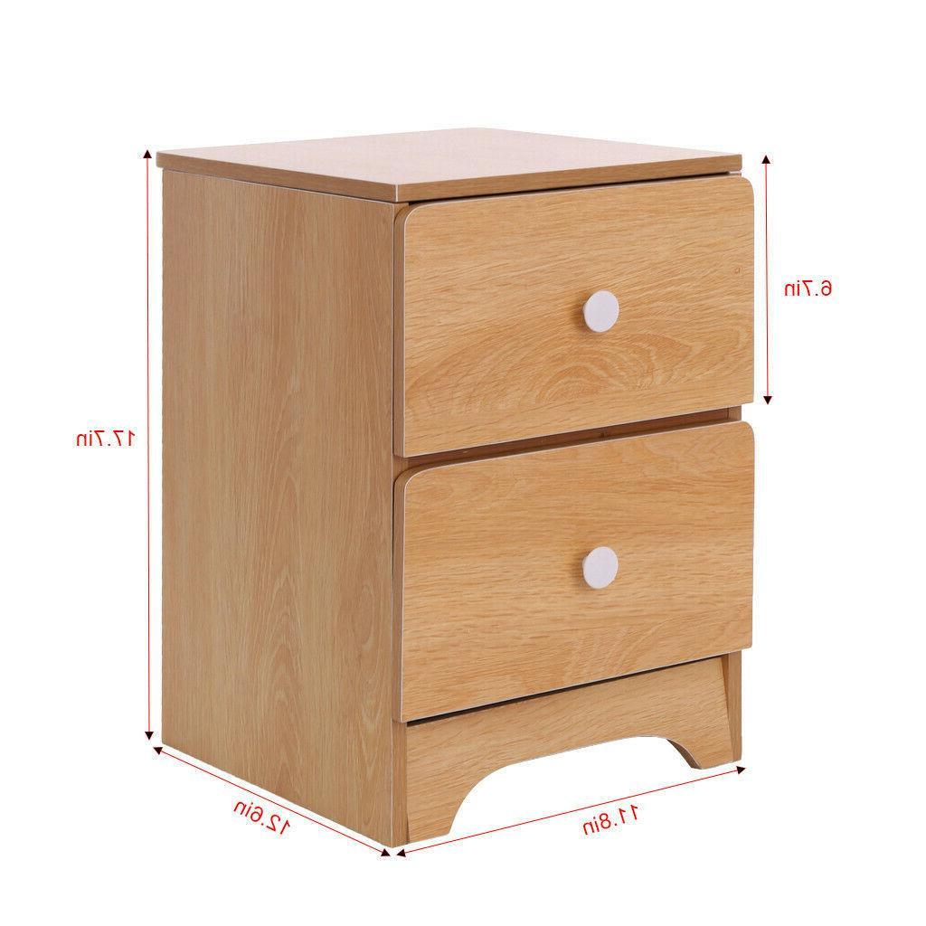 Bedroom Set of 2/1 Night Stand Table Furniture Storage 2 Colour