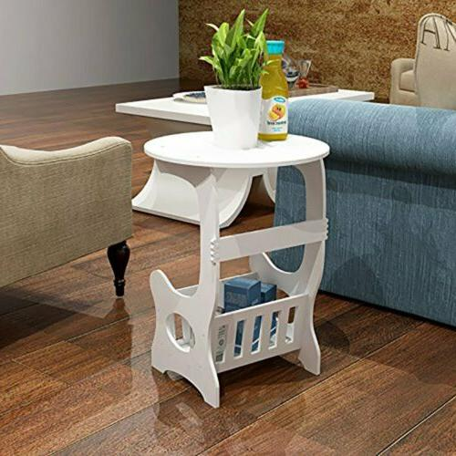 Nightstand Bedside End Table Bedroom Side Stand magazine Sto