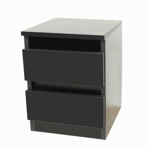 Bedside Layer Table Black
