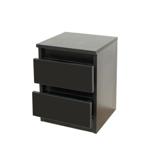 bedside night stand 2 layer drawer sofa
