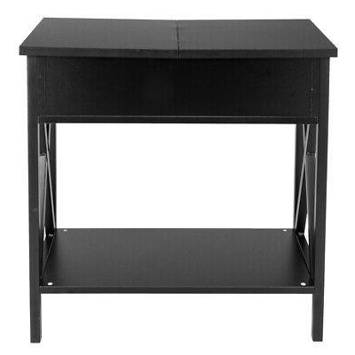 Layers Table Storage Wood Black