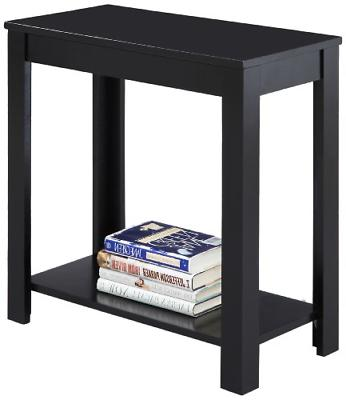 New Black Crown Mark Pierce Side End Table Stand Living Room