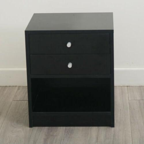 Black Stand with Drawer Black Easy-to-Assemble