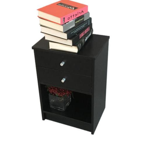 Black Nightstand Set Bedroom