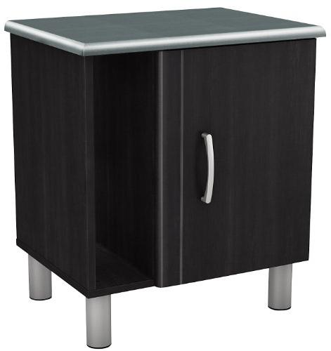South Shore Cosmos Nightstand with Magazine Storage, Charcoa