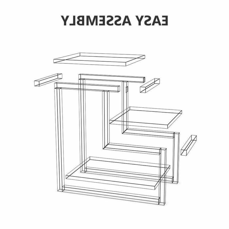 Country 3-story Chair Side Table With Table