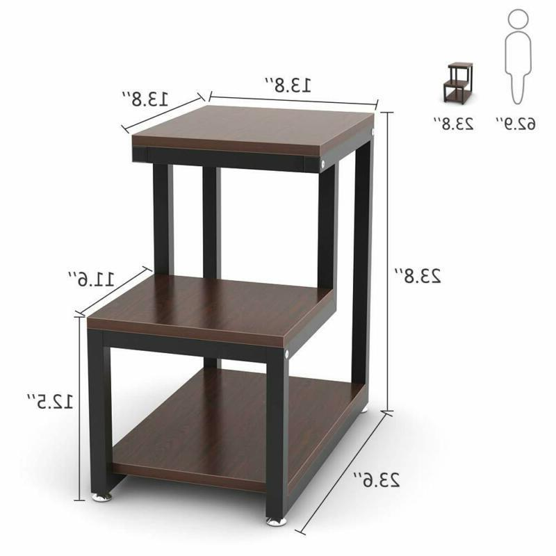 Side Table Night With Storage Shelf Table