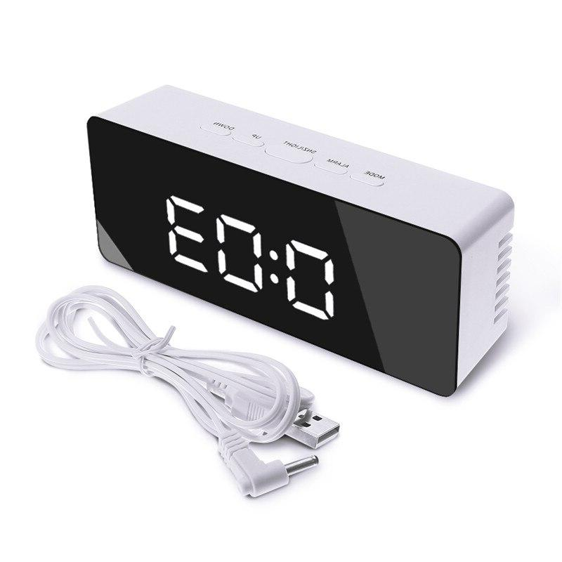 Digoo DG-DM1 <font><b>Mirror</b></font> Digital Time Temperature <font><b>Night</b></font> Lights Black Clock