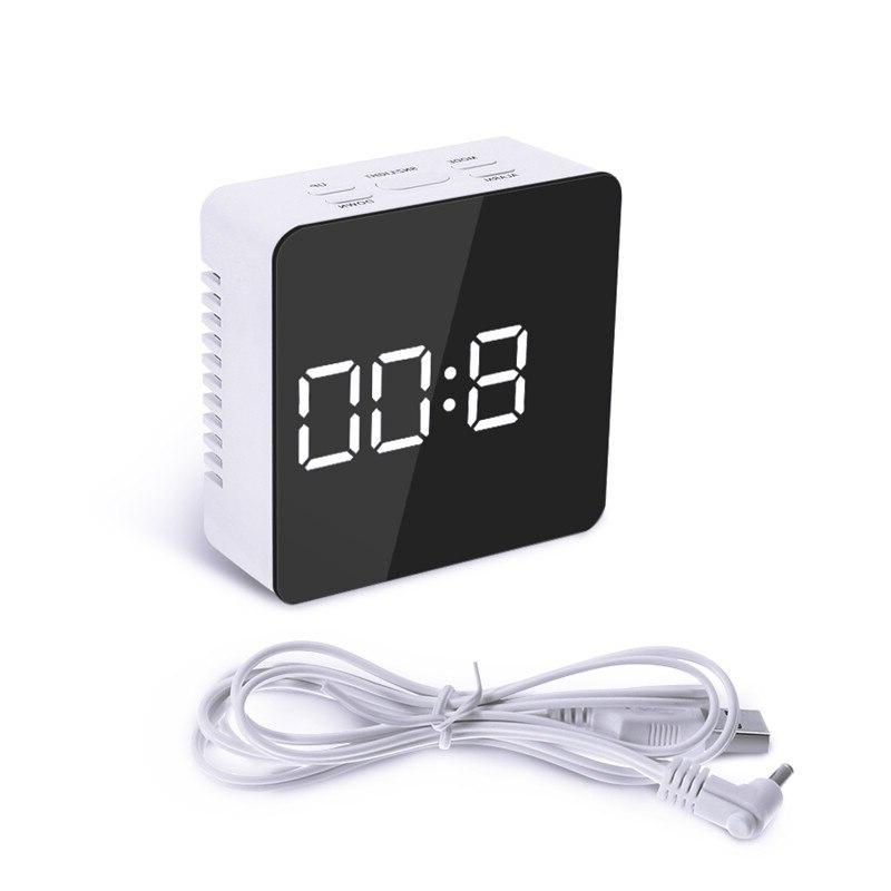 Digoo USB <font><b>Mirror</b></font> Therometer Time <font><b>Night</b></font> Lights Clock