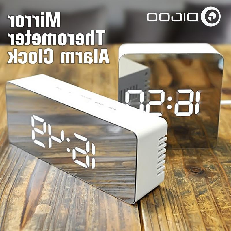 Digoo <font><b>Mirror</b></font> LED Digital Lights Snooze Alarm Clock