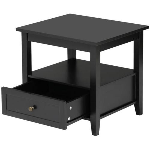 End Stand Table Living w/ Shelf