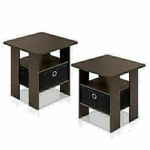 Furinno End Bedroom Night Stand,
