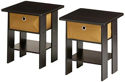 end table bedroom night stand petite espresso