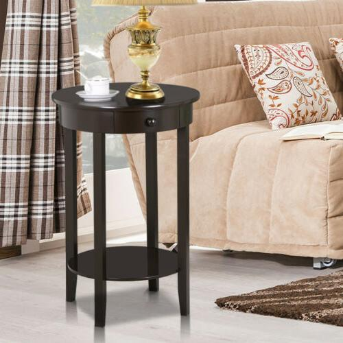 End Tables Nightstand Sofa Bed Chair Side Table Round Accent