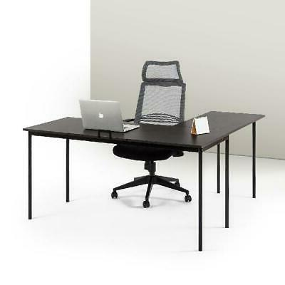 espresso finish l shaped corner desk w