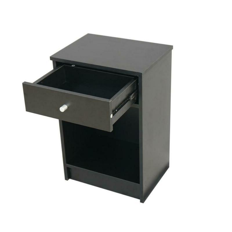 2 Layer Night Stand With Drawer Bedside End Table Organizer