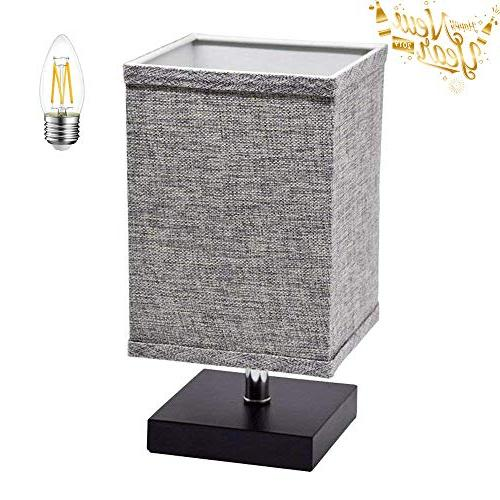 fabric bedside table lamp