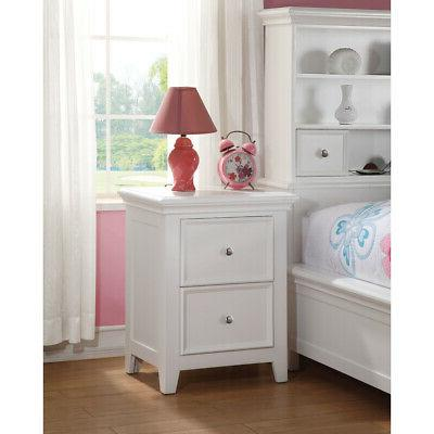 ACME Furniture Lacey Nightstand Bedside Wooden Storage Book