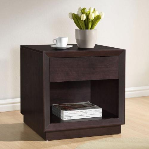 Baxton Studio Accent Table and Brown