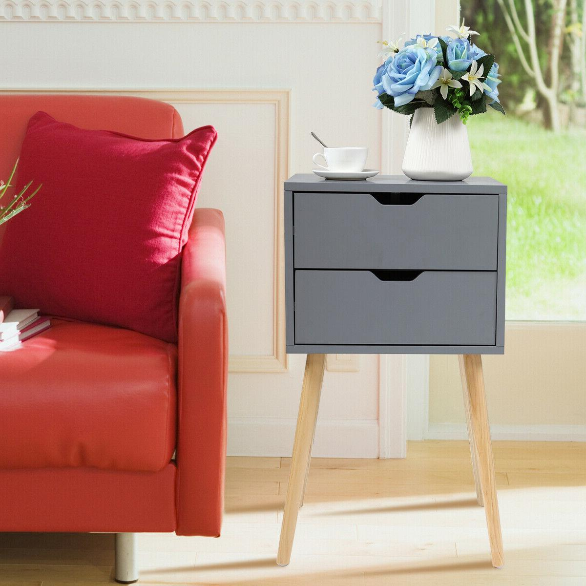 gray nightstand bedside table sofa end table