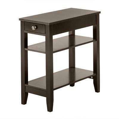 Hot Style Night Stand End Side Bedside Table Organizer Coffe