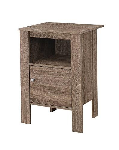 "Monarch 2136 Accent Table-Dark Stand L x 14"" D"