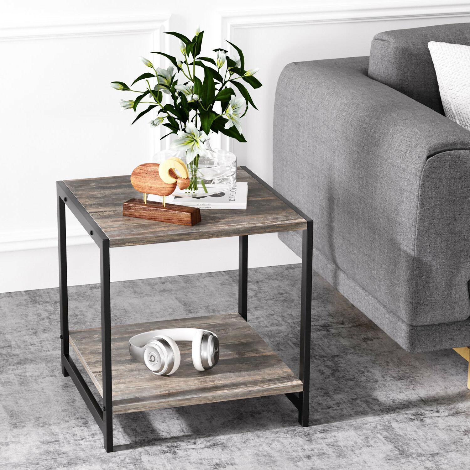 IRONCK End Table, Stand Table Storage