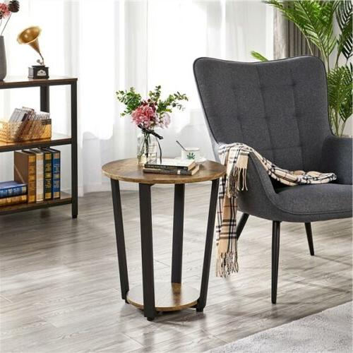Industrial with Storage End Sofa Night Table Frame