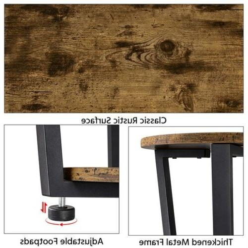 Industrial Side Table with Storage End Night Frame