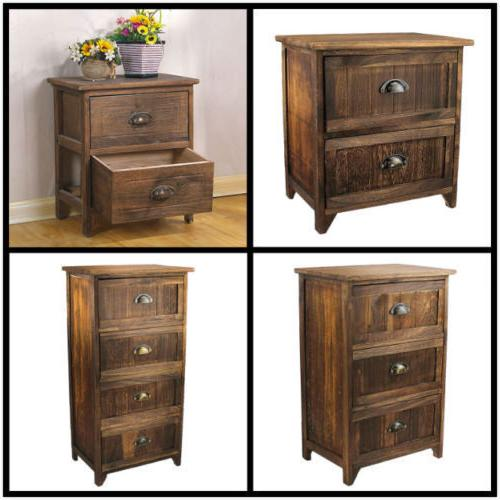 Jerry & Maggie -  Nightstand Classic Wood Night Stand 2-4 Dr