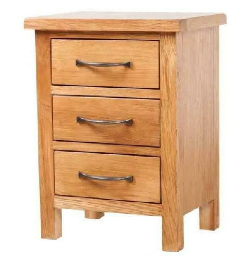 kcasa solid oak wood nightstand with 3