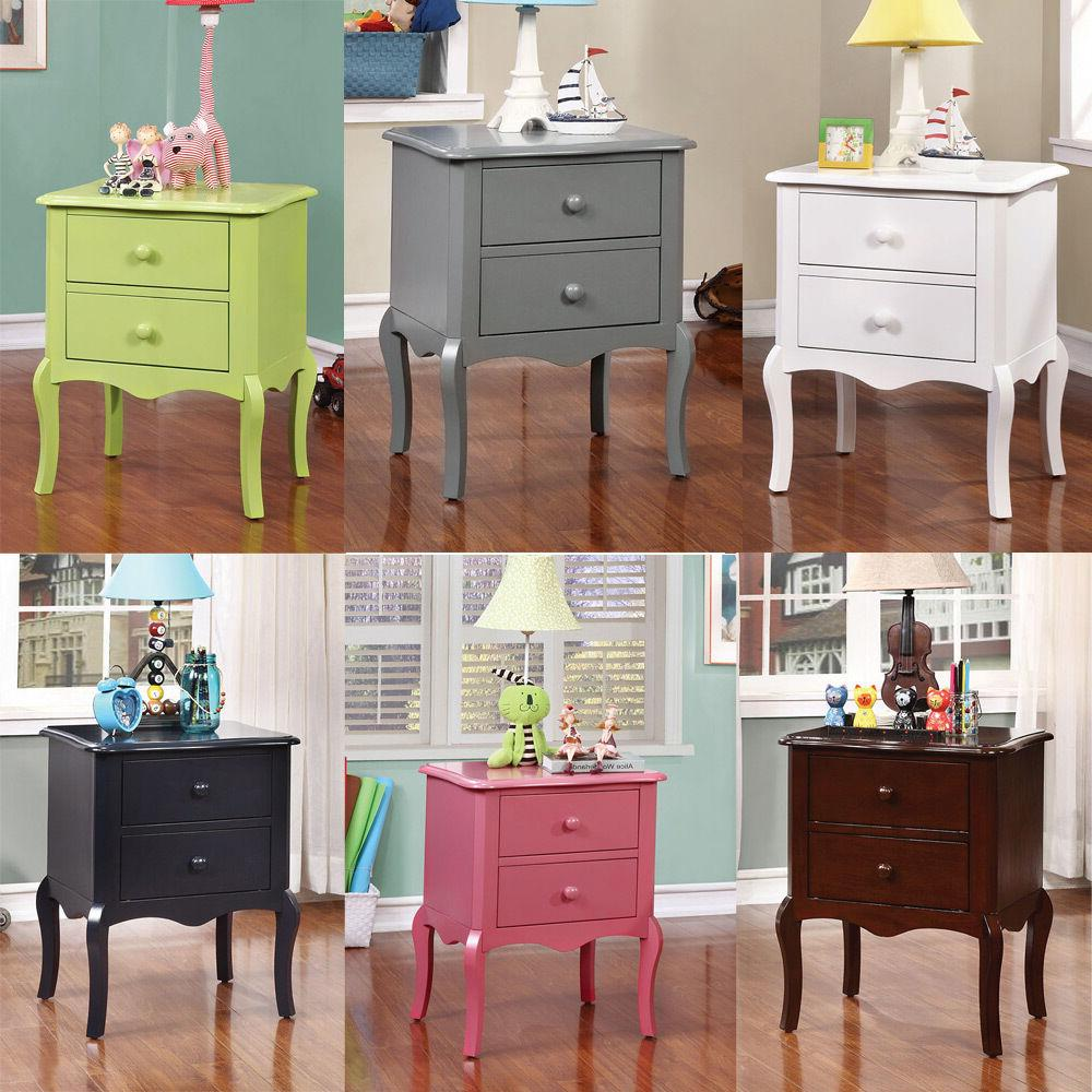 lexie youth kids bedroom night stand nightstand colorful