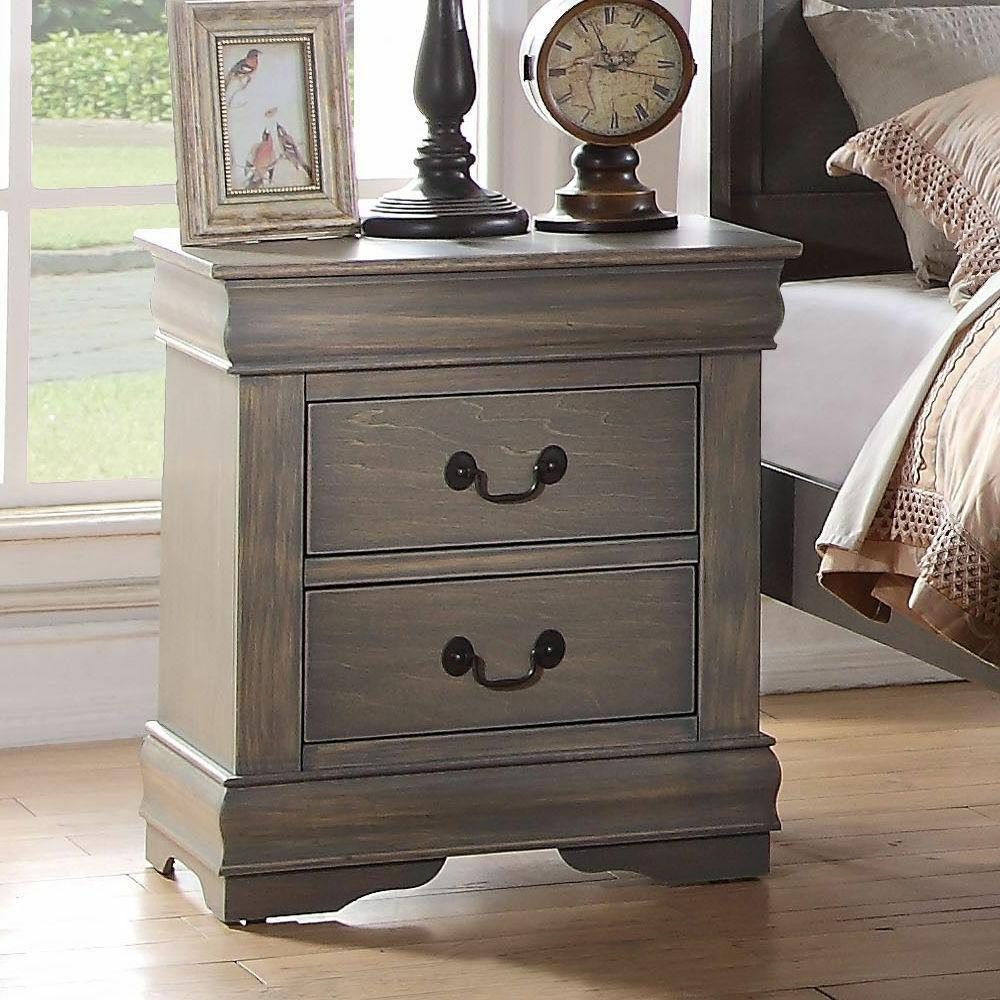 louis philippe 23863 nightstand antique gray one