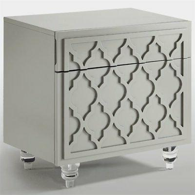 Lydia Grey Nightstand - Lacquer -