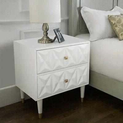 Linon Mdf Solid Wood White And BD53WHT01AS